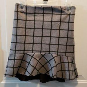 Loft XXSP skirt with flip ruffle bottom
